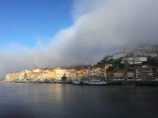 I took a bus from the end of the trail in Spain to Porto, Portugal.